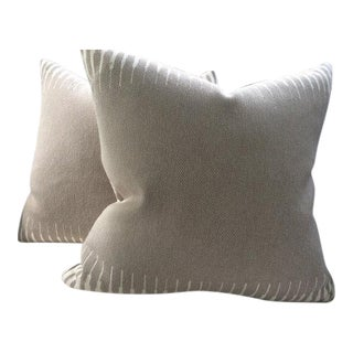 Manuel Canovas Pillows in Kazan Taupe - a Pair