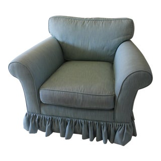 Modern Oversized Upholstered Club Chair For Sale