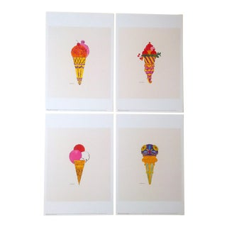 "1959 Andy Warhol ""Ice Cream Dessert"" Original Lithograph Prints - Set of 4"