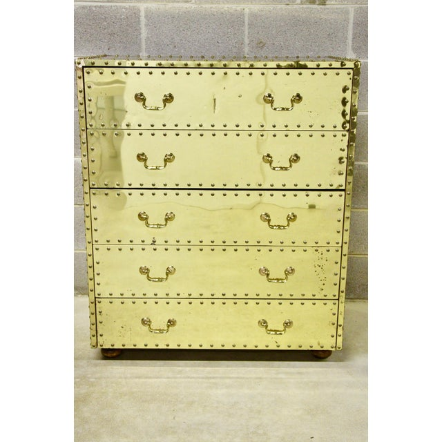 Sarreid Brass-Clad Dresser For Sale In Richmond - Image 6 of 6