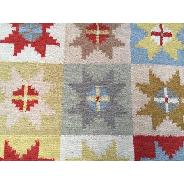 Wool Indian Dhurrie Rug - 5' x 8' - Image 3 of 9