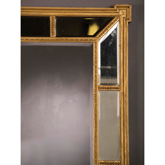 Late 19th Century A handsome gold leaf frame in the manner designed by famed English architect Robert Adam that encloses the mirror glass from England c. 1895 For Sale - Image 5 of 6