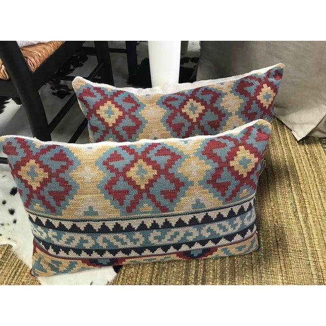Lee Jofa Boho Chic Lee Jofa Kilim Pillows - a Pair For Sale - Image 4 of 5
