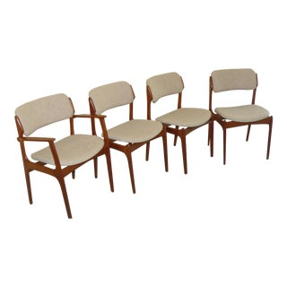Mid-Century Modern Erich Buch No. 49 Od Møbler Chairs - Set of 4 For Sale