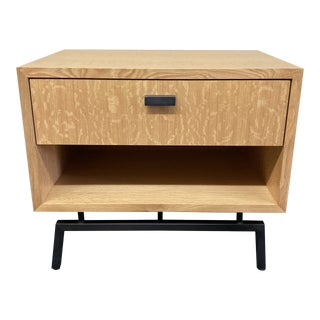 Contemporary Tiger Oak Nightstand Nightstand For Sale