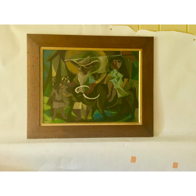 1948 Vintage William Rose Modern Oil Painting For Sale - Image 10 of 10