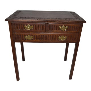 Late 18th Century Carved English Georgian Side Table For Sale