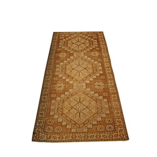 Vintage Oushak Design Runner For Sale