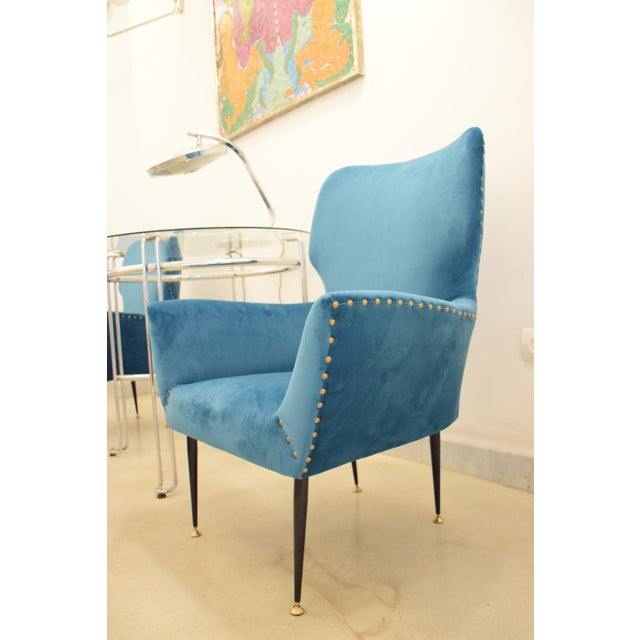 Pair of Italian Mid-Century Vintage Armchairs, 1950s For Sale - Image 9 of 13