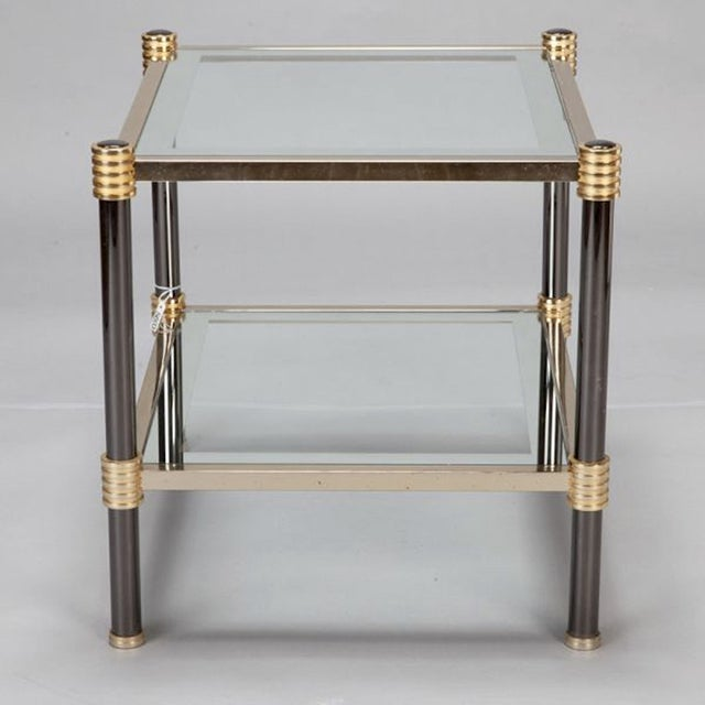 Roche Bobois Chrome & Brass Side Tables - A Pair - Image 3 of 5