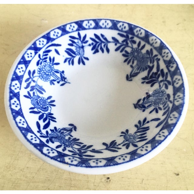 Chinoiserie Blue & White Trinket Dish - Image 2 of 6