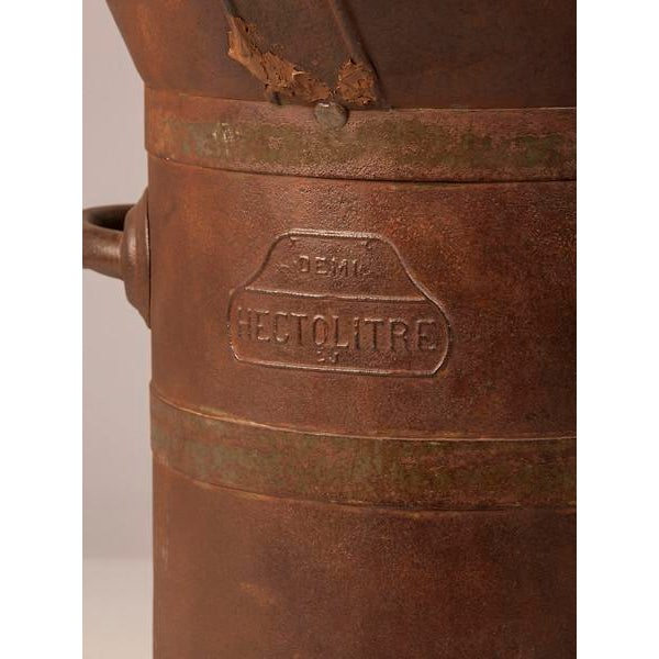 Late 19th Century 19th Century Enormous French Iron Wine Jug with Raised Handles For Sale - Image 5 of 11