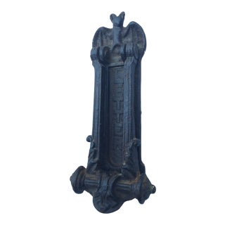 Victorian Gothic Bat Door Knocker For Sale