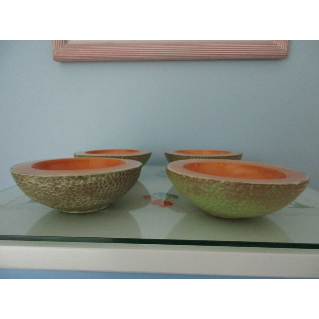 Vintage Cantaloupe Serving Bowls - Set of 4 For Sale - Image 10 of 13
