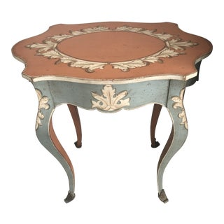 Ardley Hall Painted Table With Drawer For Sale