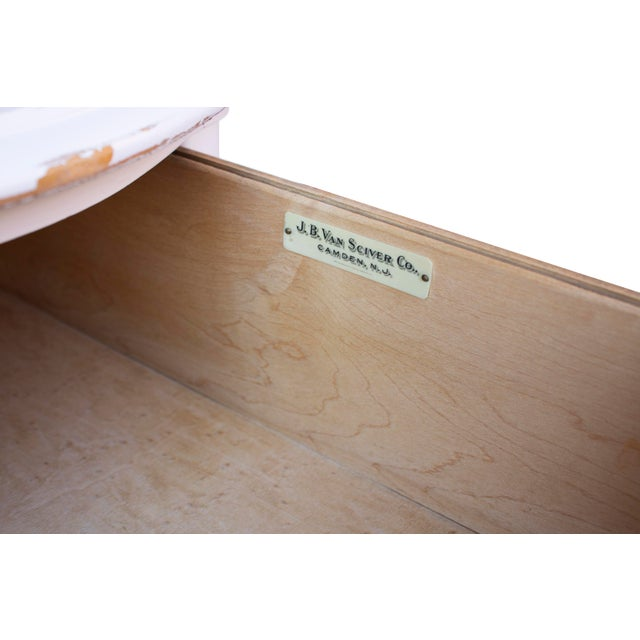 White Shabby Chic Highboy Dresser by j.b. Van Sciver of Camden, Nj For Sale - Image 4 of 10