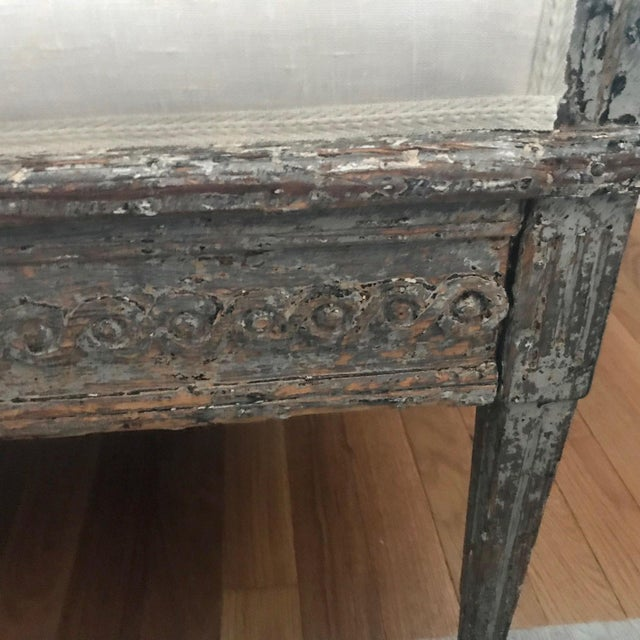 Early 19th Century Vintage Gustavian Bench For Sale - Image 11 of 13