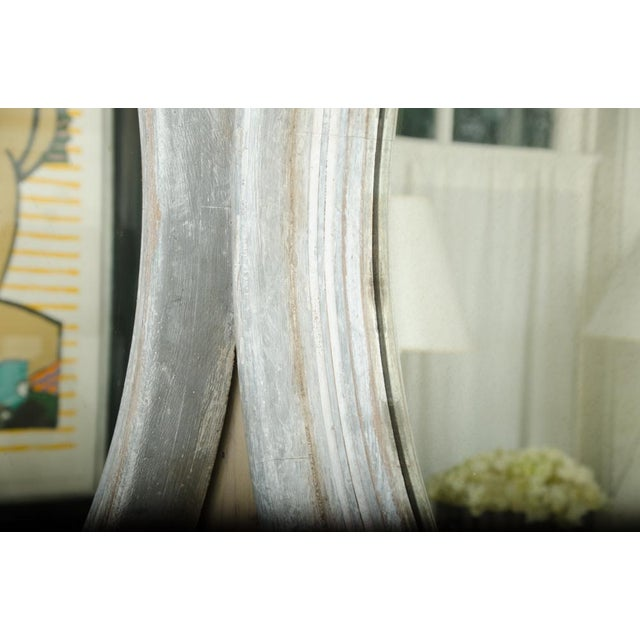 Mid-Century Modern Pair of 19th Century Round Swedish Mirrors For Sale - Image 3 of 6