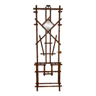 English Bamboo Hall Rack For Sale