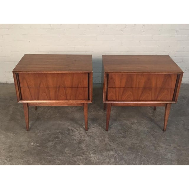 Thomasville Mid-Century Danish Modern Nightstands - a Pair - Image 7 of 7