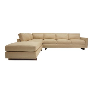 Walnut Base Frame Trim Detail Piping Dawson Sectional For Sale