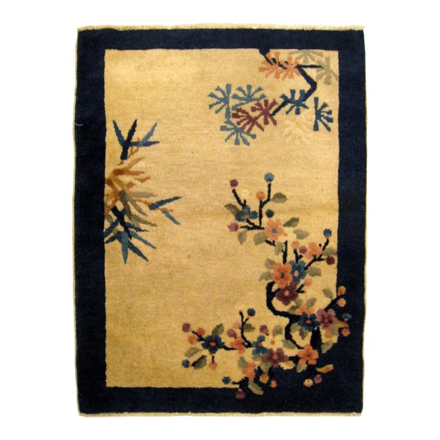 """1900s Antique Chinese Peking Oriental Rug-2'2'x3"""" For Sale"""