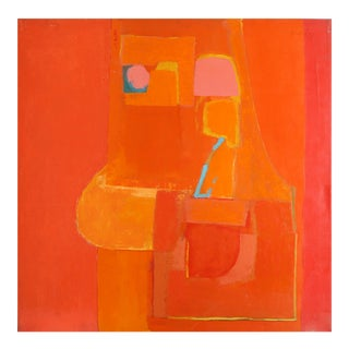 Modern Abstract in Orange and Red by Beverly