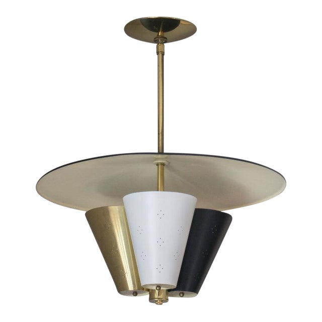 Mid-Century Tricone Reflector Lightolier Fixture For Sale