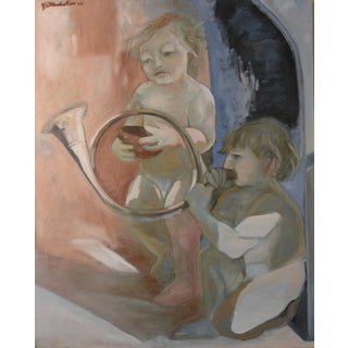"""Allegorical Scene 3"" Figural Painting For Sale"
