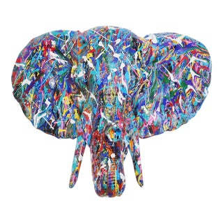 Contemporary Abstract Elephant Sculpture For Sale
