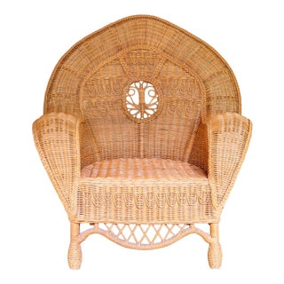 1990s Boho Chic Ralph Lauren Safari Peacock Chair