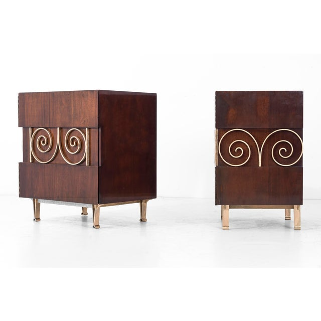 1950s Edmund Spence Pair of End Tables or Nightstands For Sale - Image 5 of 11