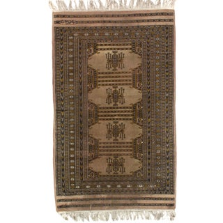 Pasargad Fine Pak Bokhara Hand-Knotted Rug - 3′ × 5′ For Sale