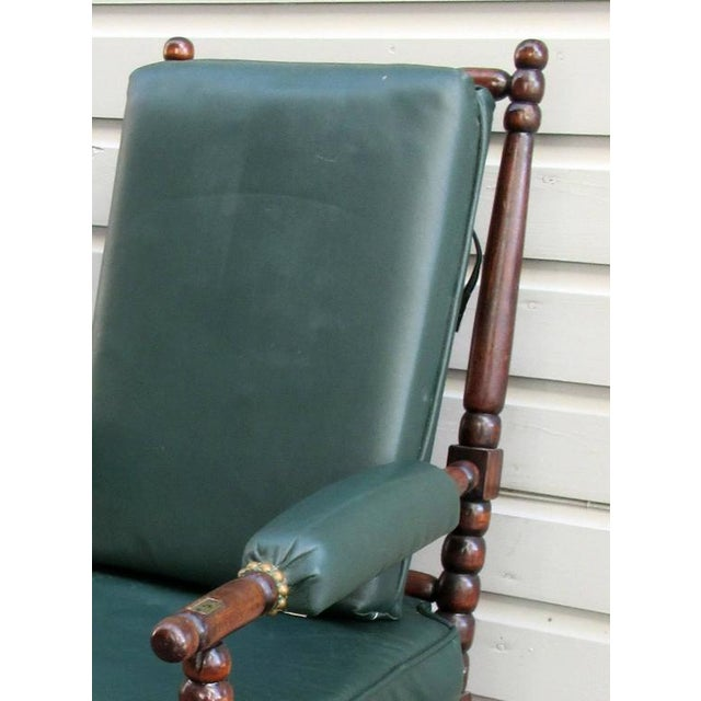 Early 19th Century English Mahogany Bobbin Turned Library Chair with Casters For Sale - Image 5 of 5