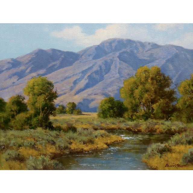 American David Chapple -View of the Owens Valley - Oil Painting For Sale - Image 3 of 7