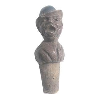 Vintage Arni Wood Yelling Man Cork