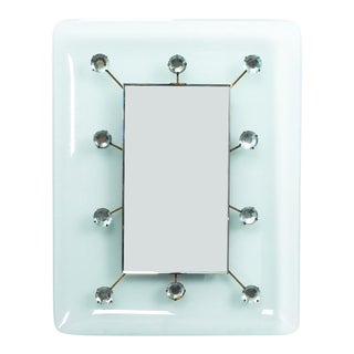 Illuminated Fontana Arte Mirror, Italy, Circa 1960 For Sale