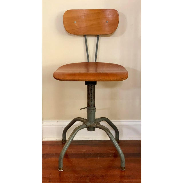 1930s Vintage Industrial Singer Sewing Machine Chair For Sale - Image 11 of 11