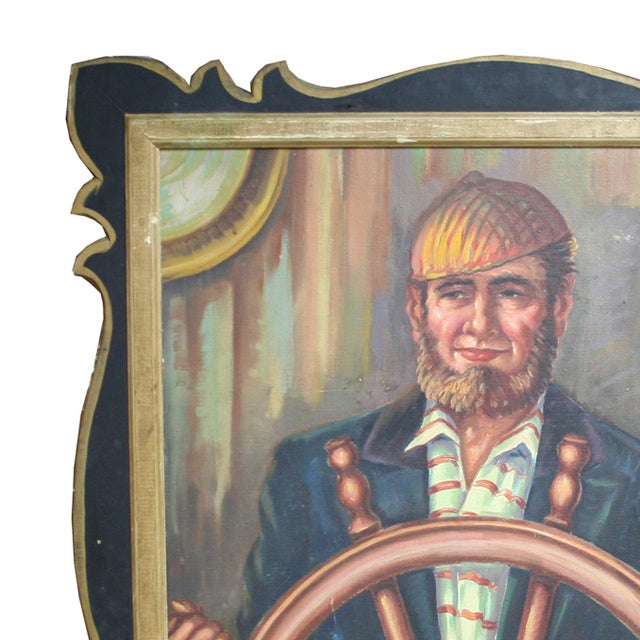 Salvaged Carousel Panel with Captain - Image 2 of 2