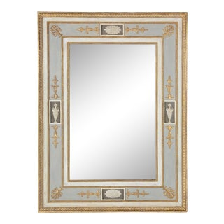 Vintage Neoclassical Wall Mirror For Sale