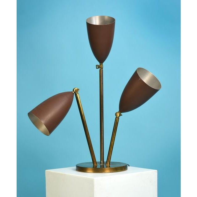 Aluminum Rare 1940's Greta Magnusson-Grossman Table Lamp With Adjustable Shades For Sale - Image 7 of 13