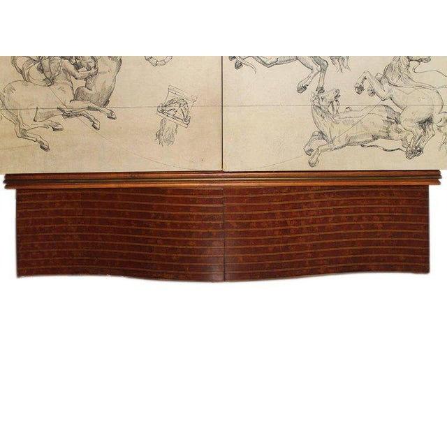 Franco Albini Italian Cabinet Bar in Parchment and Walnut by Franco Albini, 1940s For Sale - Image 4 of 11