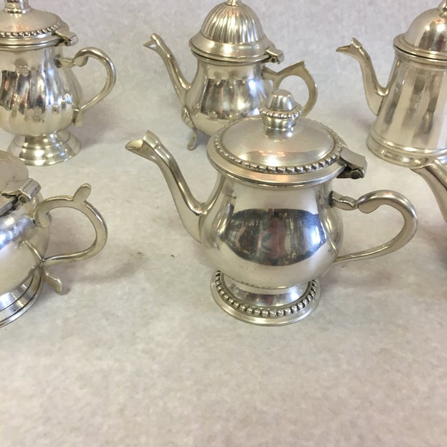 Vintage Miniature Tea Pots- a Set of 6 For Sale In South Bend - Image 6 of 10