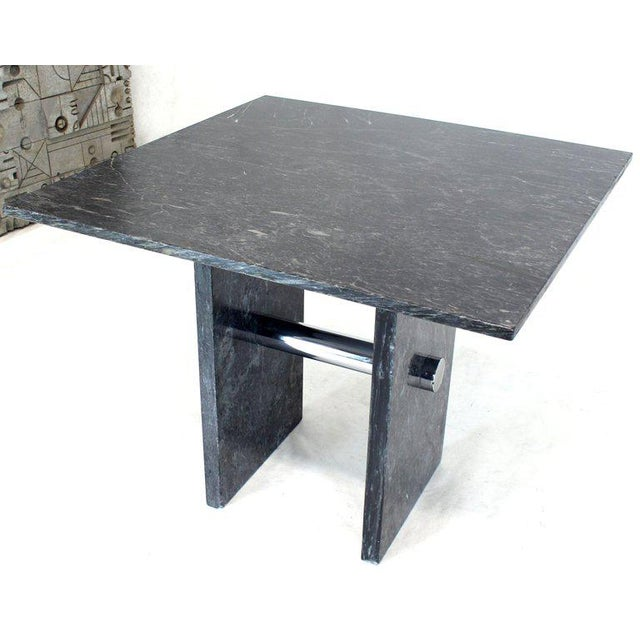 Mid-Century Modern black marble top dining occasional table. Possibly made by Pace Collection.