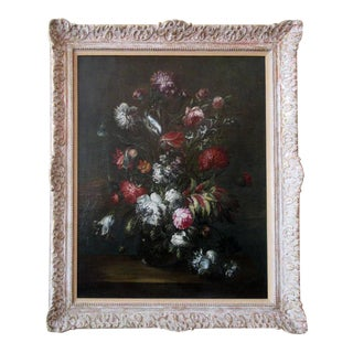 Large-Scale 18th Century Dutch Still Life Oil Painting with Giltwood Frame For Sale