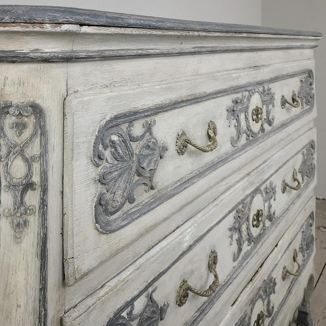 19th Century Country French Regence Painted Commode For Sale - Image 10 of 13