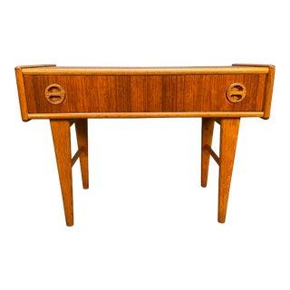 Vintage Danish Mid Century Modern Teak Side Table - Entry Chest For Sale