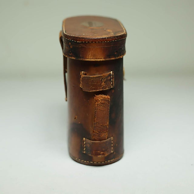 Industrial Leather Wrapped Binoculars and Leather Case C. 1940-1950s For Sale - Image 3 of 11