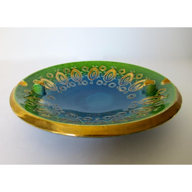 Vintage Mid-Century Aldo Londi for Bitossi Blue Ashtray, or Catchall Dish For Sale In West Palm - Image 6 of 13