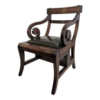 English Mahogany Metamorphic Library Chair--Converts to a Step-Ladder. For Sale